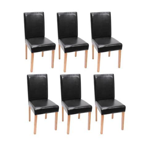 chaise cuir noir chaise de salle a manger simili cuir noir