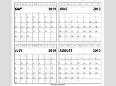 Calendar May June July 2019 – Template Calendar Design