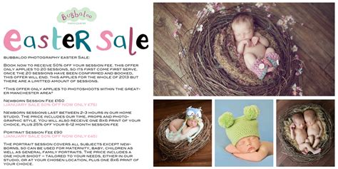 bubbaloo photography easter sale newborn baby