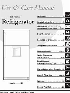 Frigidaire Refrigerator 241567601 User Guide