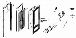 Sears Custom Black Fullview  Best  Storm  Screen Door Parts