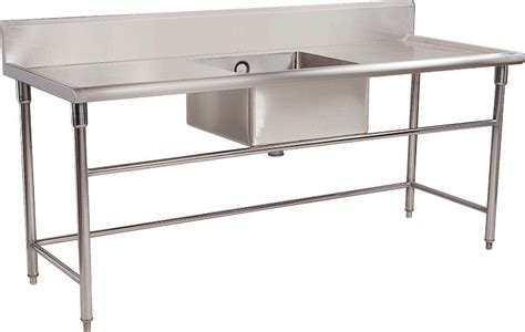 stainless steel work table with sink commercial restaurant stainless steel catering equipment