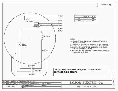Baldor Single Phase Motor Capacitor Wiring by Wiring Diagram For Electric Motor With Capacitor