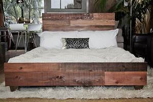 custom reclaimed barn wood platform industrial bed With barn wood king size bed