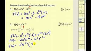 Derivatives of Exponential Functions with Base e - YouTube