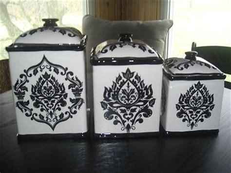 pc canister set black white ebay   kitchen canister sets black white