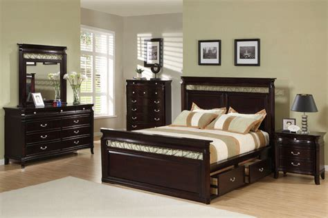 bed and bedroom sets save big on the espresso customizable manhattan panel bedroom set size