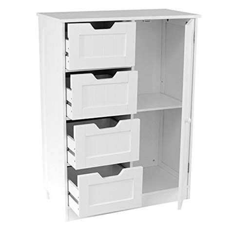 Floor Standing Bathroom Cupboard by Home Discount 174 Bathroom Cupboard 4 Drawer 1 Door Floor