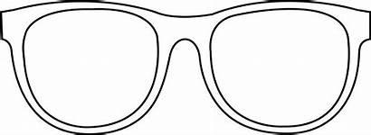 Glasses Nerd Clipart Outline Clip Line Template