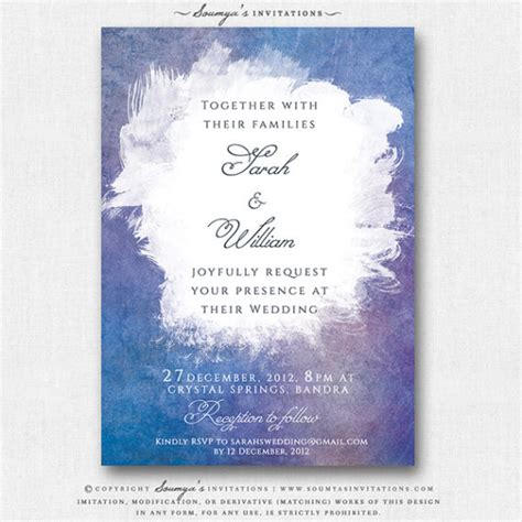 Pink Orange Yellow Wedding Invitations