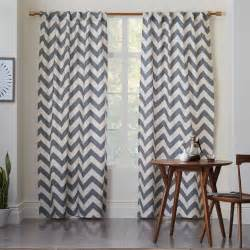 gray chevron curtains 108 cotton canvas zigzag curtain feather gray west elm
