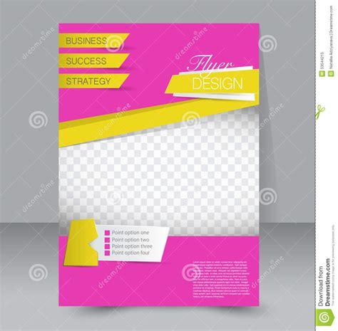poster design template flyer template business brochure editable a4 poster stock vector image 53544215