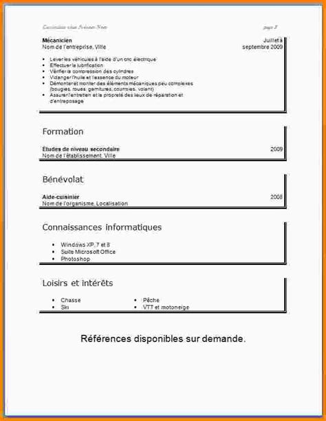 Comment Faire Un Cv Exemple by 12 Comment Faire Un Cv D 233 Tudiant Modele Cv