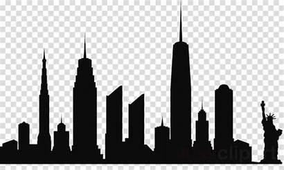 Skyline Silhouette Clipart Seattle York Clip Transparent