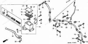 Honda Atv 2001 Oem Parts Diagram For Front Brake Master Cylinder