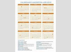 Calendario Argentina Año 2019 Feriados
