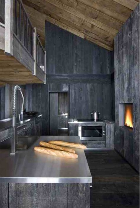 rustic grey kitchen cabinets grey stained timber modern rustic chalet kitchen cabin