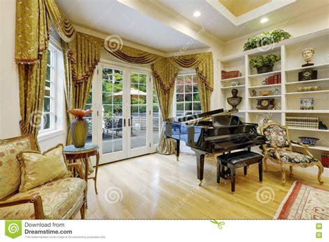Beautiful Living Room Interior In Luxury House Stock Photo