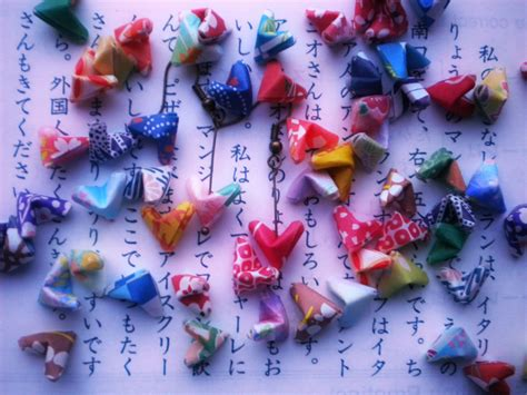 origami paper hearts earrings lucky hearts japanese