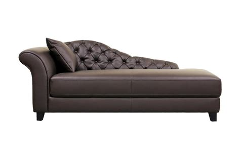modern leather chaise lounge baxton studio josephine brown leather modern
