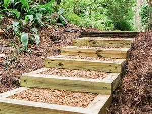 How to Build Outdoor Wood Steps how-tos DIY