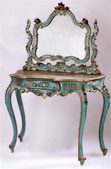 fine venetian rococo style painted  parcel gilded