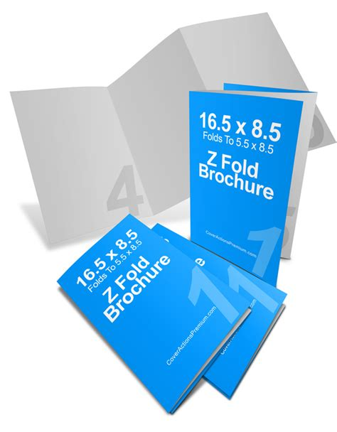 3 Panel Brochure Template How To Set Up Tri Fold Brochures 16 5 X 8 5 3 Panel Z Fold Brochure Cover Actions Premium
