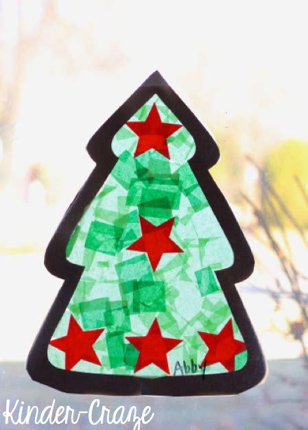 Fensterdeko Weihnachten Schule by Tissue Paper Tree Craft Window Decorations