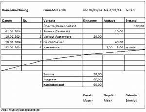 Einnahmen Ausgaben Rechnung Verein Muster : kassenbuch richtig f hren alle anforderungen im berblick ~ Themetempest.com Abrechnung