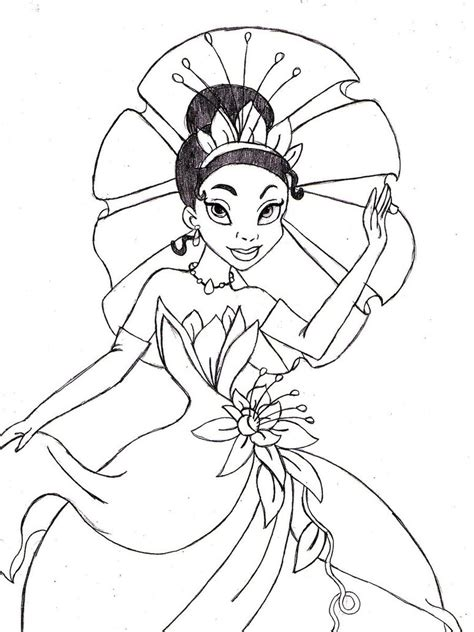 tiana coloring pages    print
