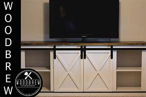 DIY Media Center / Buffet With Barn Doors - YouTube