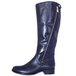 womens boots knee high leather gabor dawson 39 s modern knee high navy leather boots mozimo