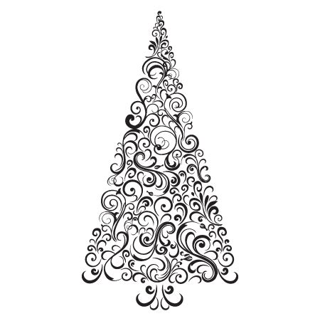 festive swirls christmas tree wall quotes decal wallquotescom