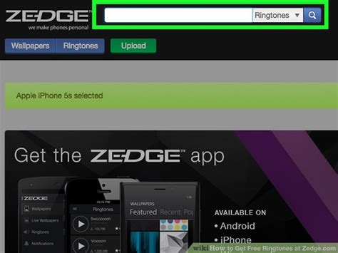 How To Get Free Ringtones At Zedgecom (with Pictures