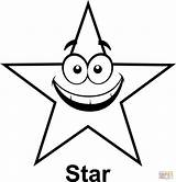 Star Coloring Shape Cartoon Outline Shooting Stars Pages Face Printable Shapes Clipart Drawing Five Clip Graphics Geometry Point Math Preschoolers sketch template