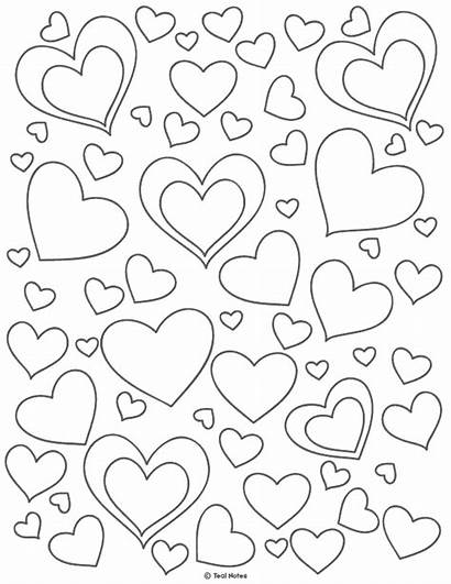 Heart Printable Coloring Template Pages Cut Stencil