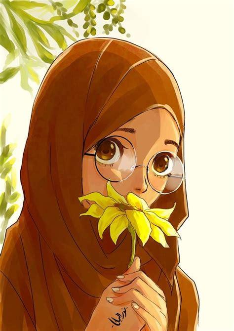 images  hijab animasi  pinterest drawings anime style  allah