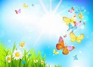 Spring Butterflies Background | Gallery Yopriceville ...