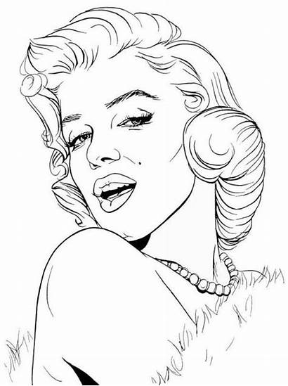 Marilyn Monroe Drawing Coloring Coloriage Pop Dessin