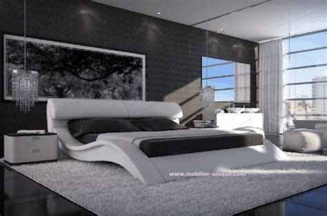 canape d angle blanc et gris lit en cuir italien design haut de gamme en 140 x 200 matera