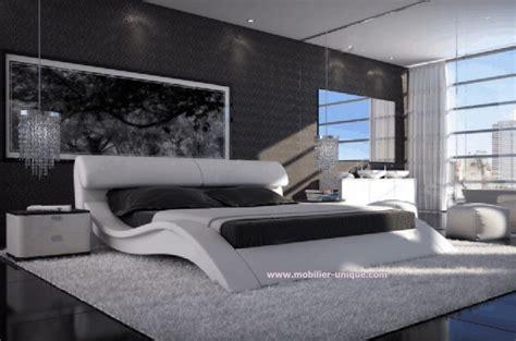 chambre en italien lit en cuir italien design haut de gamme en 140 x 200 matera