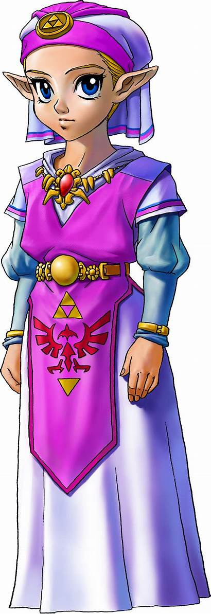 Zelda Ocarina Legend Transparent Princess Young Link