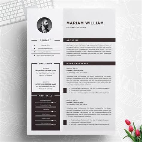 Chronological Resume Cv Modern Design by Modern Clean Professional Ms Word Resume Cv Design