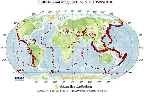 Erdbeben Aktuell Weltweit Karte