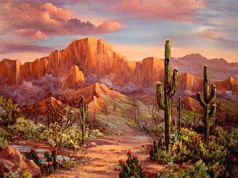 desert sunsetssouthwest paintings arizona landscapes