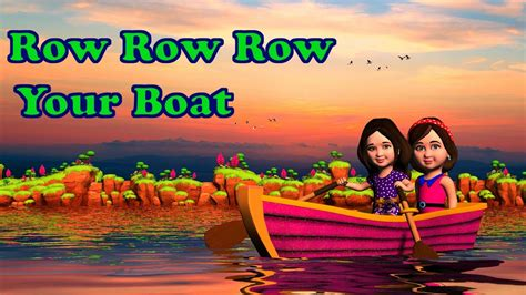 Row Your Boat In English by Row Row Row Your Boat Song Lyrics English Rhymes Songs