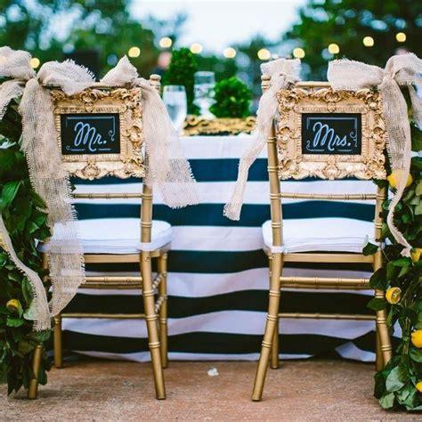 gold wedding mr mrs chairs 2071117 weddbook