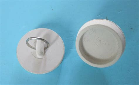 white rubber basin sink tub stopper  nickel plated