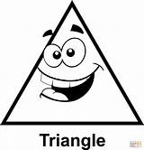 Triangle Cartoon Clip Coloring Face Triangles Shapes Colorear Para Geometry Printable Math Graphics Clipart Silly Faces Shape Preschool Supercoloring Crafts sketch template