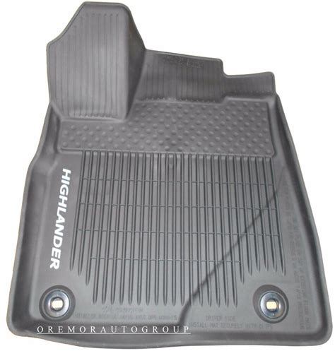 Toyota All Weather Floor Mats by 2014 2017 Highlander All Weather Floor Mats Genuine